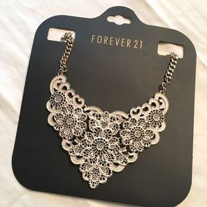 F21 Lace bib necklace